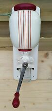 wall mounted  art deco HT coffee grinder ca1930s nice with red lines.