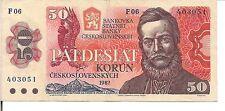 CZECHOSLOVAKIA, 50 KORUN, P#96, 1987
