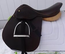 "COLLEGIATE RD English Show Saddle - 16"" -BEAUTIFUL! NEW GATSBY Leathers/Stirrups"