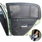 2 Car Window Socks Baby/Kids Black Mesh Side Shades for Family Travel Safety