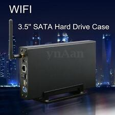 "3.5"" USB3.0 SATA WIFI Hard Drive HDD Case Box Wireless Router Repeater Enclosure"