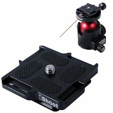 Square Metal Quick Release Plate for Micro Small Camera ARCA-SWISS Fit Ballhead