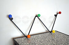 50S 60S VINTAGE ATOMIC ROCKABILLY 'W' 'ZIGZAG' WIRE COAT RACK EAMES ERA