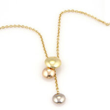 Cartier 18K Tri Color Gold Trinity Lariat Pendant Necklace