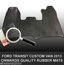FORD TRANSIT CUSTOM VAN 2013 - 2017 RUBBER FLOOR MAT MATS FRONT TAILORED FIT NEW