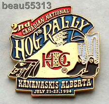 HARLEY DAVIDSON HOG 1994 2nd CANADIAN NATIONAL KANANASKIS ALBERTA CANADA PIN