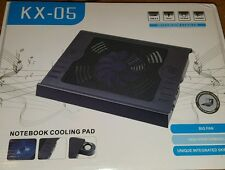 SUPPORTO BASE RAFFREDDAMENTO NOTEBOOK  CASSE INCORPORATE PC NETBOOK USB LED BLU