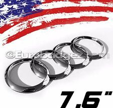 1 - NEW Audi CHROME REAR Rings Trunk Boot Badge Emblem A1 A3 B7 A4 A5 7.6 CHROME