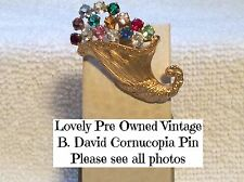 Vintage B.David Cornucopia Pin-Beautiful!