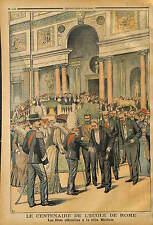 Vittorio Emanuele III di Savoia VILLA MEDICI Medicis ROMA ROME ITALIA 1903