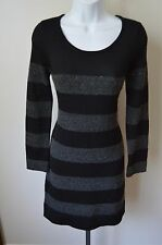 NWT ~ Ann Taylor LOFT Sweater Dress Sz SP Gray Heather / Black Touch of sparkle