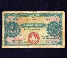 CAPE VERDE  S. TIAGO PORTUGAL 4 CENTAVOS 1914  P-10