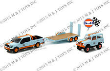 GREENLIGHT HITCH & TOW RACING GULF RACING FORD F-150 W/1966 FORD BRONCO