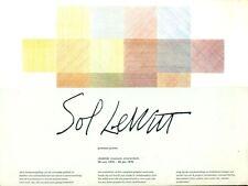 LEWITT - Sol Lewitt. Prenten/Prints. Stadelijk Museum Amsterdam 1974
