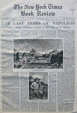 ST HELENA - NAPOLEON - OCTAVE AUBRY VERNET 1936 December 20 NY Times Book Review
