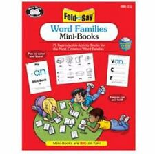 Fold and Say: Word Families Mini-books with CD-ROM ( Audrey Prince ) Used - Good