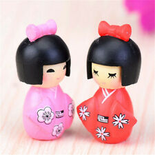 FD2851 Kimono Girl Miniature Dollhouse Ornament Flower Pot Aquarium Craft 1pc ☆