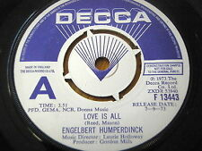 "ENGELBERT HUMPERDINCK - LOVE IS ALL  7"" VINYL DEMO"