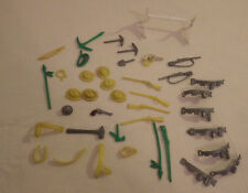 Vintage Lot of 41 Miscellaneous Toy Plastic Hats Weapons Belts