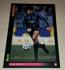 CARD GOLD 1993 INTER BERTI CALCIO FOOTBALL SOCCER ALBUM