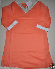 Janie and jack girl size 6 cover up dress orange NWT 100% cotton