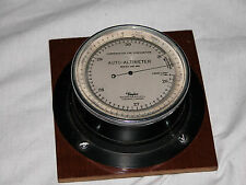 """TAYLOR""""AUTO-ALTIMETER''WITH CUSTOM LEATHER CASE PERFECT 1920's"""