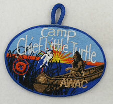 Camp Chief Little Turtle Anthony Wayne Area Council Blue Border Patch [B3239]