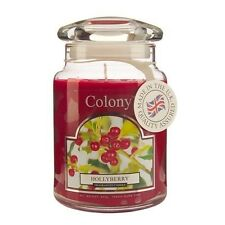 Wax Lyrical Colony Hollyberry Fragranced Large Candle Jar Christmas NEW