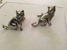 British Short Hair Cat PP-C03 Fine English Pewter Cufflinks