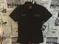 CANON Bexel Utopia Camera Short Sleeve Polo Shirt Button Down Women Large L Top