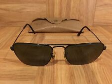 VTG!�� 1950's Ray Ban Caravan Aviators Black Chrome 52mm Bausch & Lomb USA Rare!