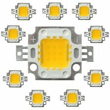 100 pcs  x 10W white High Power LED SMD bead Chips bulb light lamp DC9-12V.