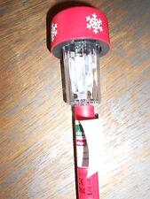 LED Leuchte ROT mit Timer + Schneeflocken / Gartenstecker           - NEU & OVP-