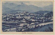 FELTRE - PANORAMA CON STAZIONE FERROVIARIA (BELLUNO) 1939