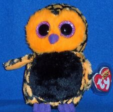 "TY BEANIE BOOS - HAUNT the 6"" HALLOWEEN OWL - NEAR PERFECT TAG - PLEASE READ #2"
