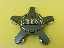 1 x 5 Spoke Gray Wheel Center Cap Hub Wheel For Audi A4 A5 A8 A6 S4 S6 TT Q7