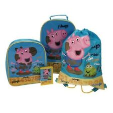 Peppa Pig ( George ) 4 Piece Luggage Set . Wheeled Suitacase Backpack Swim Bag