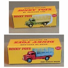 Dinky 343 Farm Produce Wagon Empty Repro Box Only