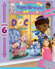 DOC MCSTUFFINS Scene Setter HAPPY BIRTHDAY Party Disney wall decor kit 6'