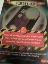 dr who EXTERMINATOR CARD  RARE 076 forcefield