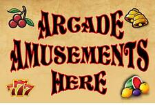 Amusement Arcade Sign Slots Sign  Vintage Fairground Sign