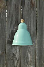 SMALL RETRO MINT GREEN TULIP HANGING LIGHT SHADE LAMP C/W BRASS BULB HOLDER
