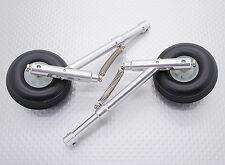Federbeine Alu- Fahrwerk-Set mit Räder 50mm, 4mm Pin Aufnahme, 104mm Lang