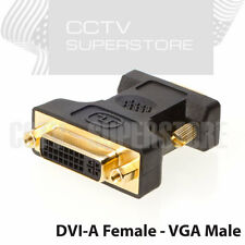 HD15 VGA Male to DVI-A Female Adapter Gold Plated Connectors Black