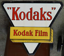 Big french enamel steel building street signe plaque publicitaire kodak film 1934