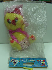 70'S VINTAGE LOUCAS TOYS BABY STUFFED ANIMAL CHICK DOLL GREEK MIB
