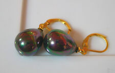 BO PERLES PEACOCK (PAON) 12x16 mm... SOUTH SEA SHELL PEARLS
