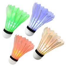 LED Glow in Dark Badminton Shuttlecock, Night Glow Birdies Lighting For Outdoor