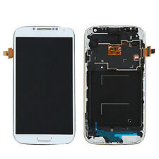 LCD Display Touch Screen Digitizer + Frame Fr Samsung Galaxy S4 i9505 White