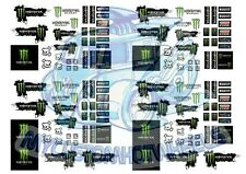 Monster Energy Racing Decals for 1:64 scale Hot Wheels